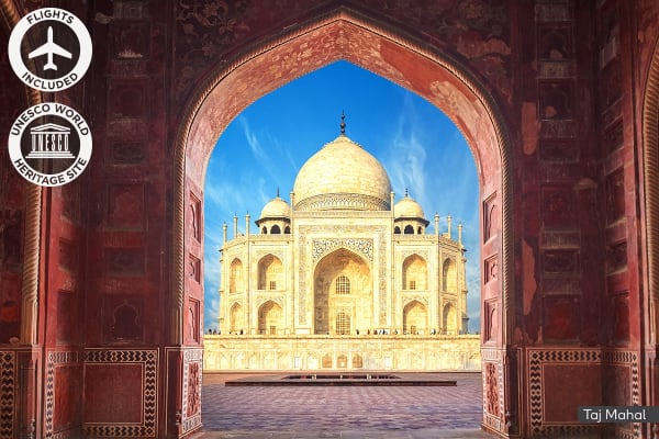 INDIA: 8 Day Golden Triangle Tour Including Flights for Two