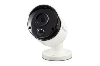 Swann 5MP Super HD IP True Detect Bullet Camera w Audio and Thermal Sensing (SWNHD-865MSB)