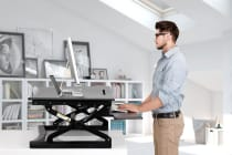 Kogan Height Adjustable Standing Desk Riser (Medium, Black)