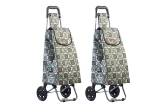 2PK Typhoon Grand Floral Grocery Shopping Cart Trolley Portable Foldable Bag