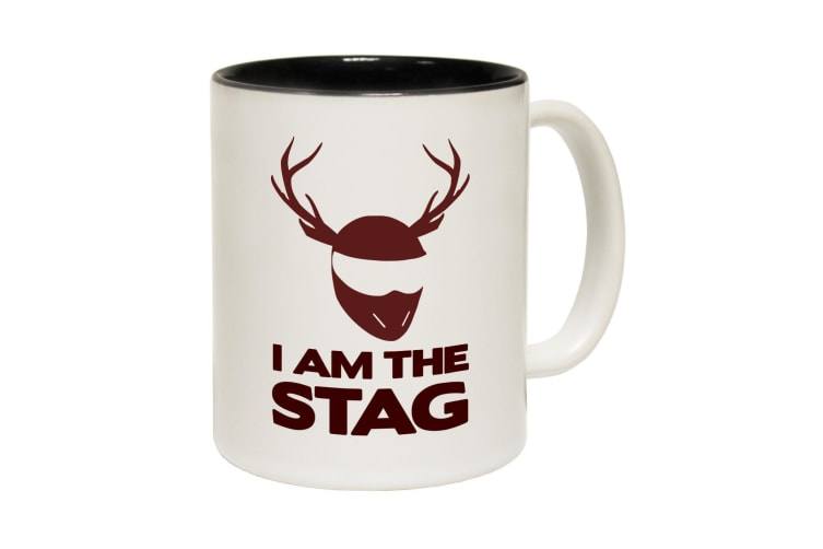 123T Funny Mugs - I Am The Stag - Black Coffee Cup