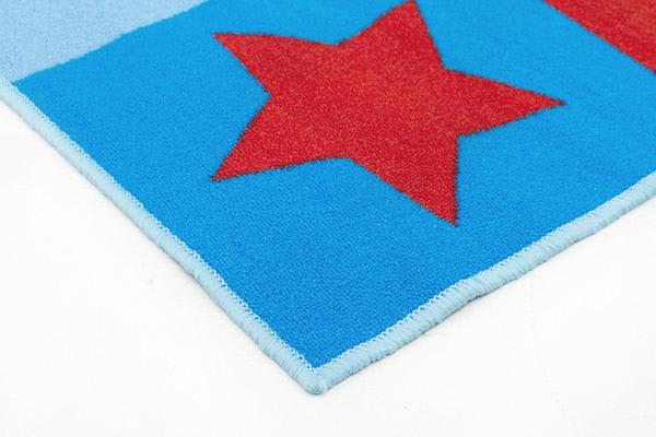 Kids Non Slip Numbers Rug Blue 150x100cm