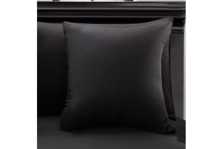 One Cotton Waffle Cushion Cover Granite