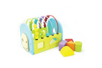 Wooden Block Sorter with Abacus - Kaper Kidz