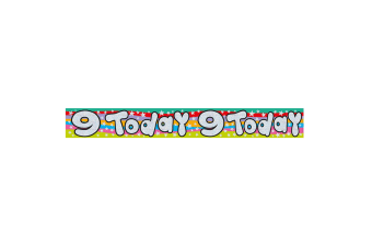Expression Factory Childrens/Kids Holographic 9 Today Foil Birthday Banner (Multicoloured)