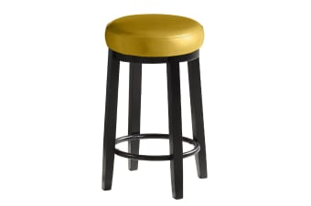 2x Levede 65cm Swivel Bar Stool Kitchen Stool Wood Barstool Dining Chair Citrine