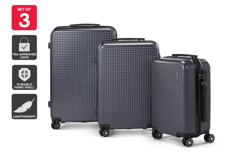 Orbis 3 Piece Malolo Spinner Luggage Set (Charcoal)