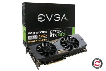Refurbished EVGA GeForce GTX980Ti 6GB SuperClocked + ACX2.0+ 16X Video card with Backplate