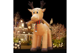 Jingle Jollys 5M Christmas Inflatable Reindeer Giant Deer Air-Power Light inside