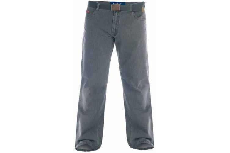 Duke London Mens Kingsize Canary Bedford Cord Trousers With Belt (Charcoal) (44S)