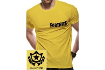 Fortnite Unisex Adults Battle Star T-Shirt (Yellow) (M)