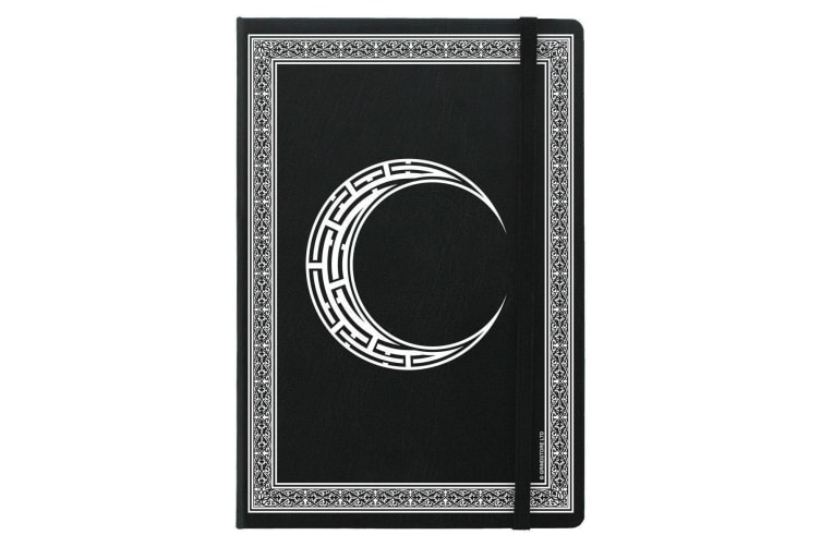 Grindstore Celtic Moon A5 Hard Cover Notebook (Black) (One Size)