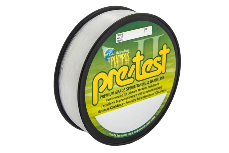 Platypus Pre-Test Mono Fishing Line Clear 500m 3kg