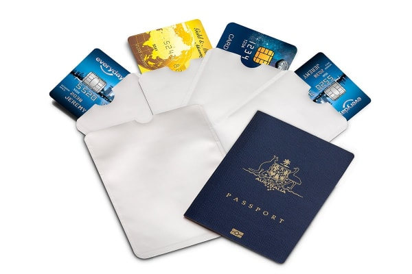 6 Piece Credit Card & Passport RFID Sleeve Set