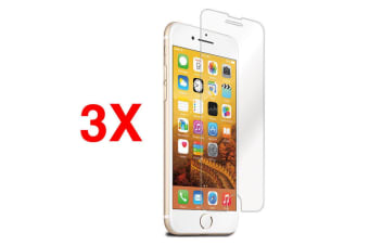 3x Cleanskin Tough Tempered Glass Screen Protector 9H For iPhone 7 Plus/6+/8+