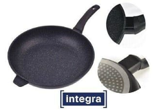 Non Stick Fry Pan Induction 30cm Flat Base Cast Aluminum Dual Coat Saphire