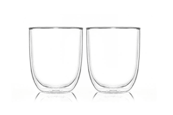 Pyrex Double Wall Glass Cup Twin Pack 250ml