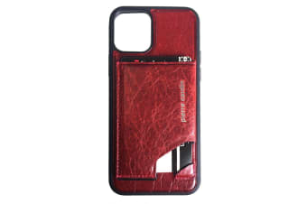 Pierre Cardin Gen. Leather Wallet Case w/Card Holder/Stand for iPhone 11 Pro Red