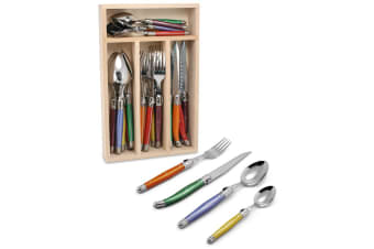 Laguiole Andre Verdier Debutant Cutlery Set 24pc Mixed