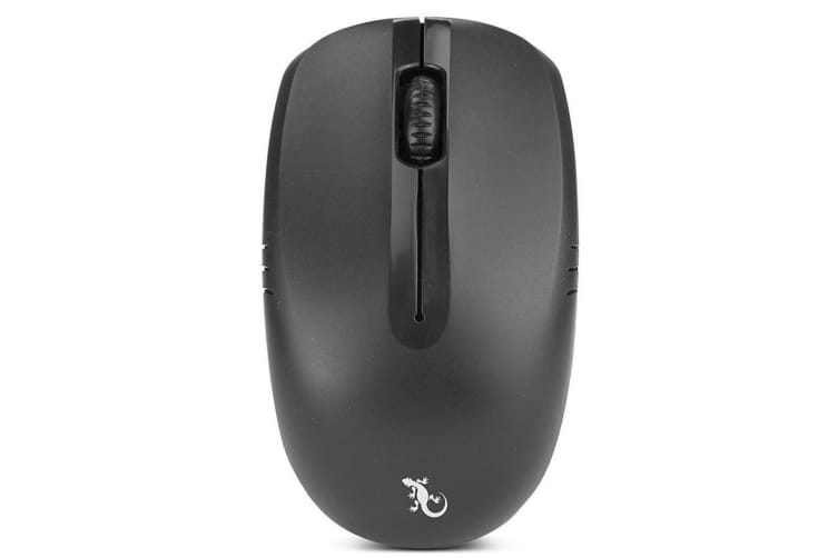 Gecko 3 Button USB Wireless Optical Mouse for Laptop/PC/Macbook Home/Office Bk