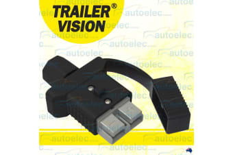 TRAILER VISION ANDERSON PLUG COVER  BLACK 50 AMP CARAVAN COVER ASSEMBLY