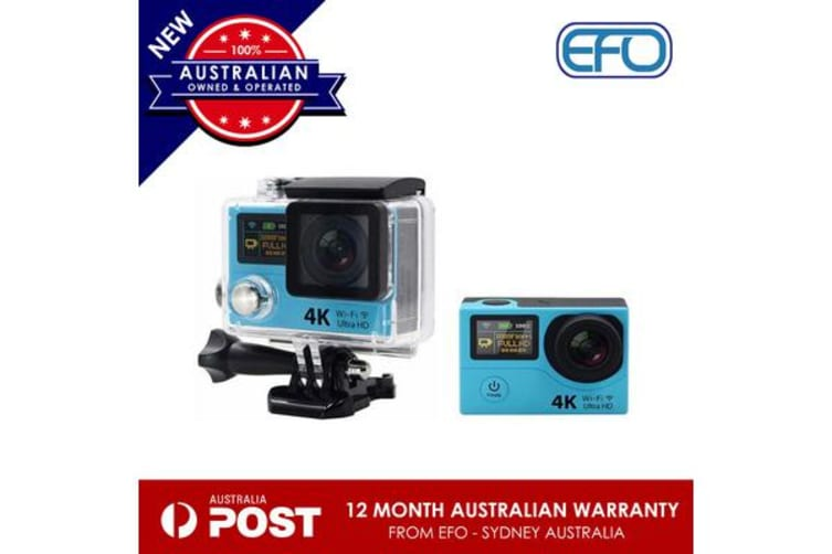 H3 Waterproof Dual Lcd Screen Uhd 4K Wifi Hdmi Sport Action Pro Camera Blue