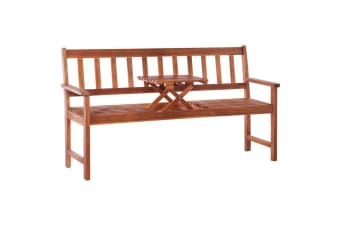 vidaXL 3-Seater Garden Bench with Table 158 cm Solid Acacia Wood Brown