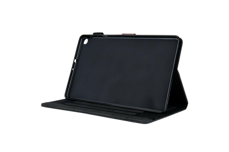 For Galaxy Tab A 10.1(2019)T510/T515 Tablet Flip leather Stand Cover Case-Black