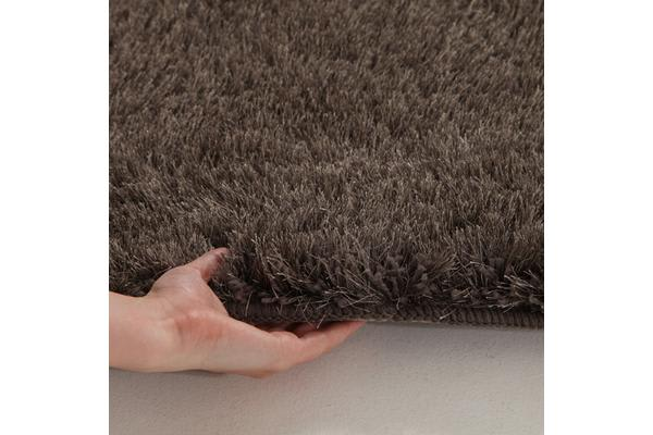Twilight Shag Rug - Ash Brown 145x75cm