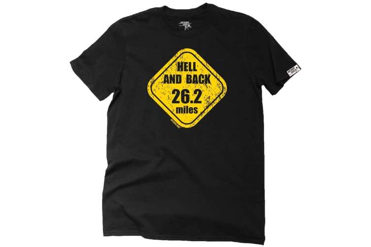 Personal Best Running Tee - Hell And 26 Miles - (Small Black Mens T Shirt)