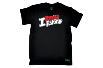 Drowning Worms Fishing Tee - I Love Stencil Mens T-Shirt