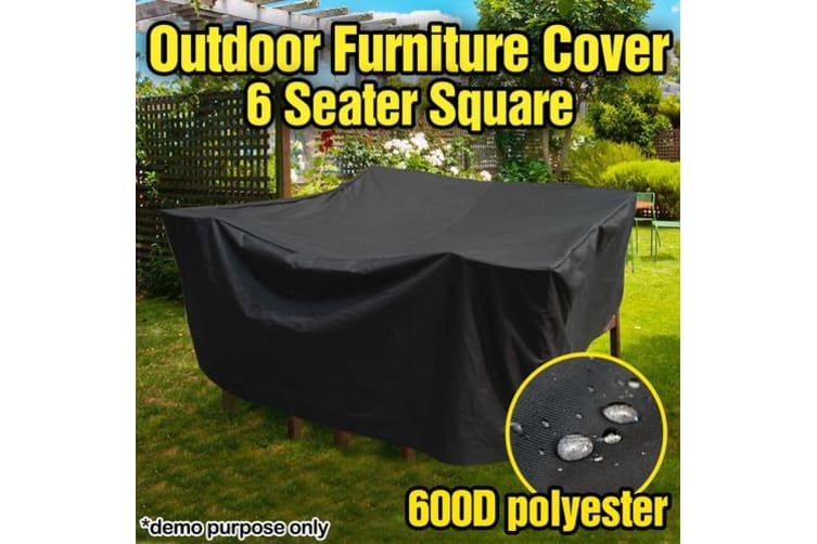 PVC Coated Polyester Waterproof Outdoor Furniture Cover 6 Seater - 2.5m x 2.5m x 0.9m