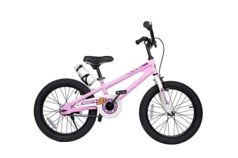 RoyalBaby Freestyle 18'' Kid's Bike for Boys and Girls, 18 inch with Kickstand & Water Bottle, in Multiple Colors