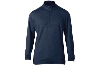 Adidas Mens Wool 1/4 Zip Top (Dark Slate)