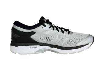 ASICS Men's Gel-Kayano 24 Running Shoe (Silver/Black/Mid Grey)