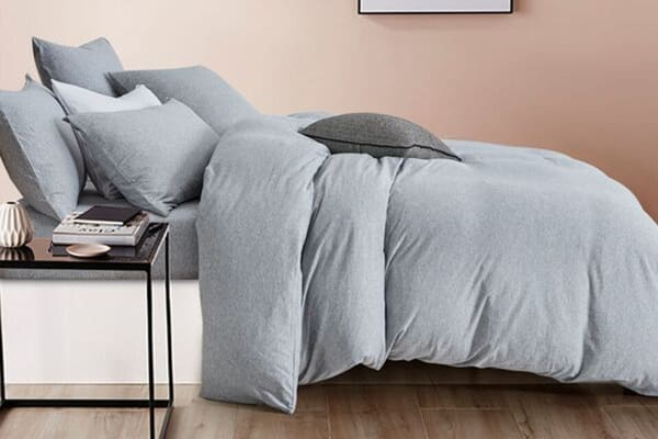 Gioia Casa Jersey Cotton Quilt Cover (Queen/Grey Marble)