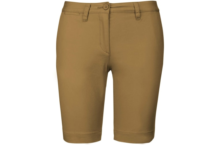 Kariban Womens/Ladies Chino Bermuda Shorts (Camel) (8 UK)