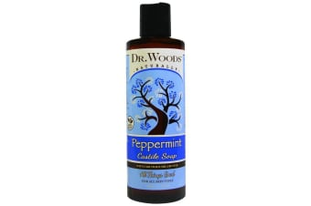 Dr. Woods Peppermint Castile Soap with Fair Trade Shea Butter - 236ml