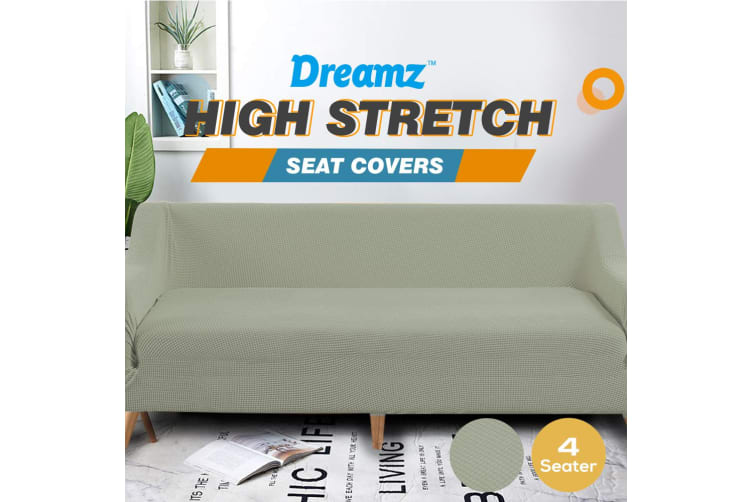 Dreamz Couch Stretch Sofa Lounge Cover Protector Slipcover 4 Seater Khaki New