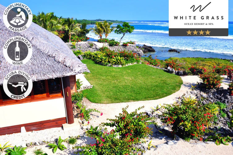 VANUATU: 5 Nights at White Grass Ocean Resort & Spa For Two (2 Bedroom Family Ocean View Bure)
