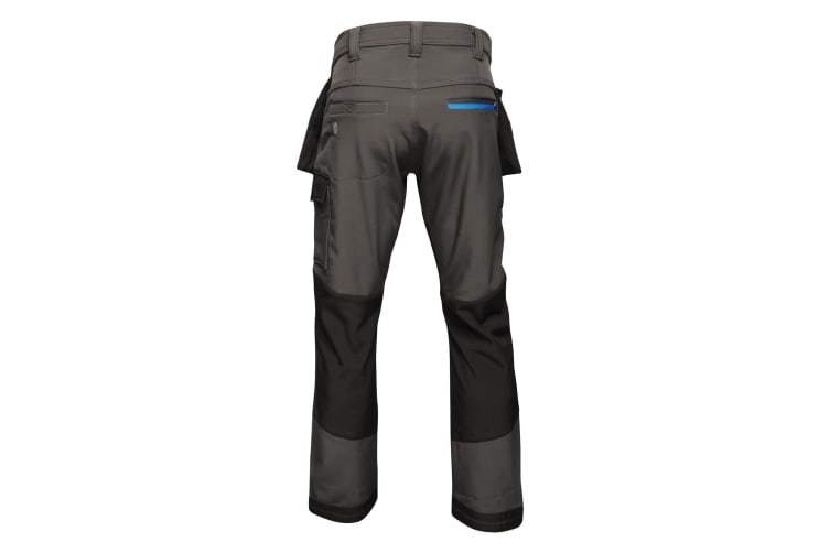 Regatta Mens Strategic Softshell Work Trousers (Ash) (32R)