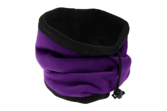FLOSO Womens/Ladies Multipurpose Fleece Neckwarmer Snood / Hat (Purple) (One Size)