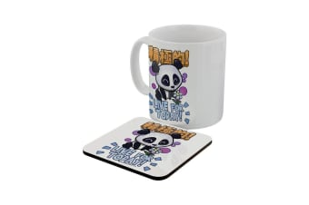 Handa Panda Live For Today Mug & Coaster Set (White)