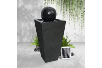 Solar Water Fountain Feature Garden Outdoor Bird Bath w/ Battery