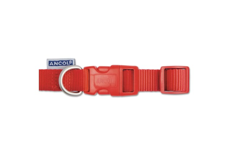Ancol Pet Products Heritage Adjustable Quick Release Collar (Red) (25-50cm (Size 2-5))