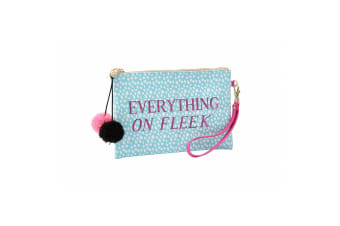 Sweet Tooth Everything On Fleek Beauty Bag (Blue/Pink)