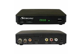 Strong HD Digital Set Top Box Media Player w/ PVR via USB DVB/T2 For TV Antenna