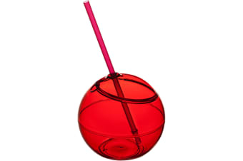 Bullet Fiesta Ball And Straw (Pack of 2) (Red) (23 x 12 cm)