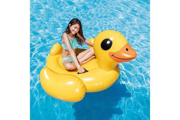 Intex Giant Yellow Duck Pool Ride On