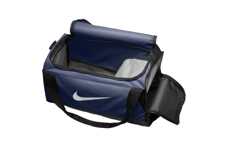 Nike Brasilia Small Duffel Bag (Navy/Black/White)